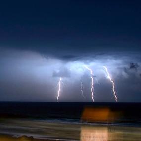 .Lightening  by Arvind Akki - Landscapes Weather ( lightening, reflection, nature, clouds, sea )