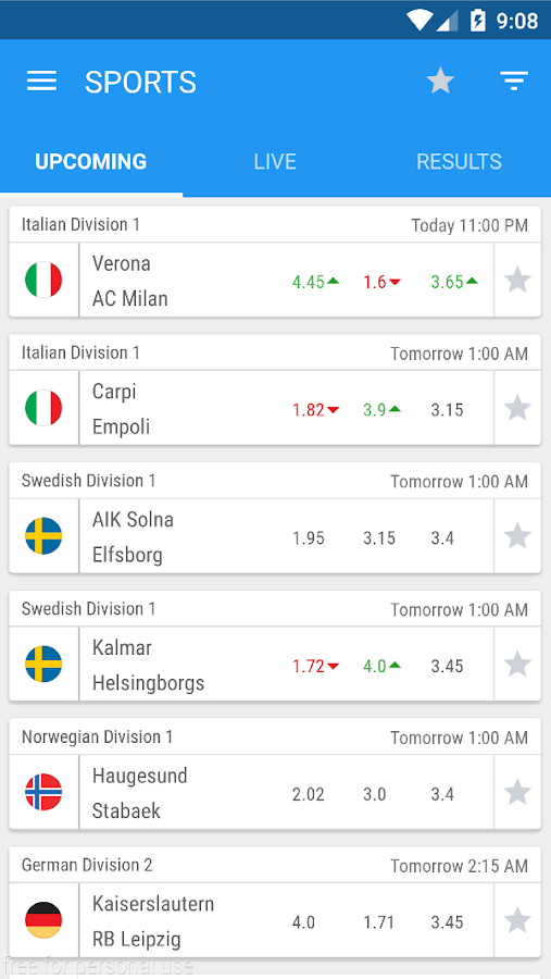 HongKong Football Odds Screenshot