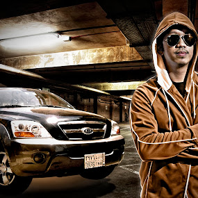 eLmerizm by Elmer Tendero - Digital Art People ( parking, jeddah, kia, sorento, composite, saudi arabia )