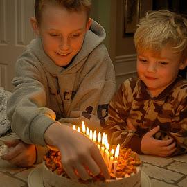 Happy Birthday! by Chris Smith - Babies & Children Children Candids ( birthday, boys, brothers )