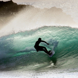 IMG_4056 by Keith Sutherland - Sports & Fitness Surfing ( surfer, silhouette, wave )