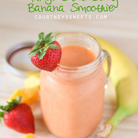 Mango Strawberry Banana Smoothie