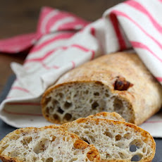 Rustic Flaxseed and Date Ciabatta