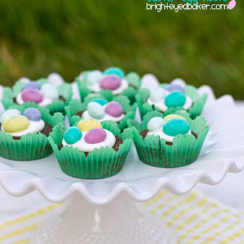 Nutella Brownie Easter Egg Nests