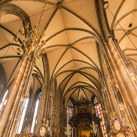 St. Stephen's Cathedral, Vienna. by Simon Page - Buildings & Architecture Places of Worship