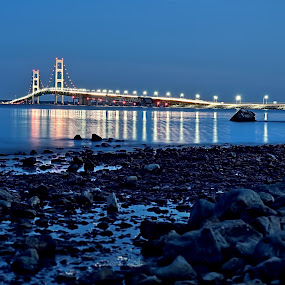The Mighty Mackinaw Bridge  by Kevin Stacey - Transportation Other