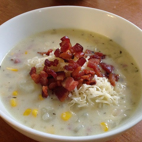 Ham, Potato, & Corn Chowder.