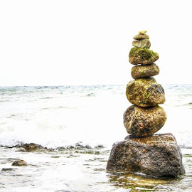 One on top of the other by Shaun Samm - Nature Up Close Rock & Stone ( artw, artistic, seascape,  )