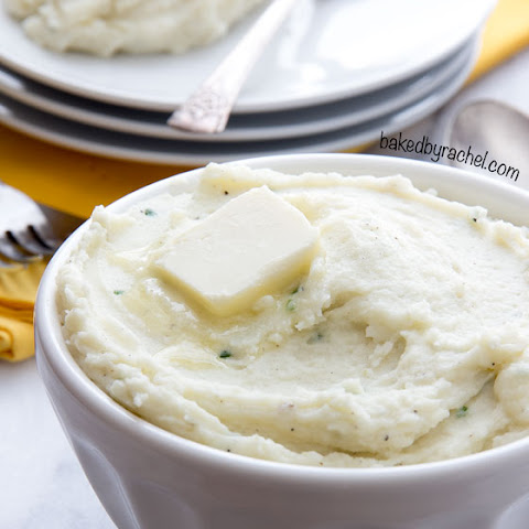 Make Ahead Garlic Cream Cheese Mashed Potatoes