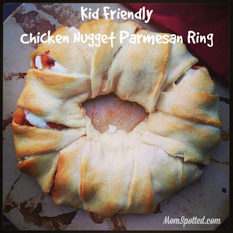Kid Friendly Chicken Nugget Parmesan Ring