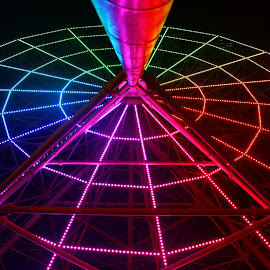 Colorful Ferris Wheel by Renanta  Putra - Novices Only Objects & Still Life ( amazing, colorful, light, ferris wheel )