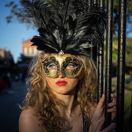 mardi gras 2016 by Terry Fultineer - People Portraits of Women