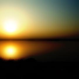 Abstract Sunset by Florentina  Arvanitaki - Illustration Abstract & Patterns ( romance, sunset, blur, abstract )