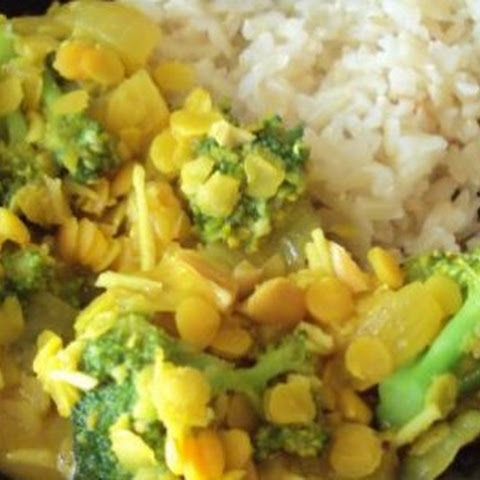 Indian Broccoli Dal Curry