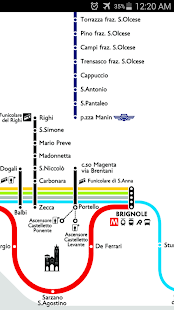 Genoa Metro & Rail Map - screenshot