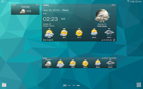 Weather & Clock Widget Android Screenshot