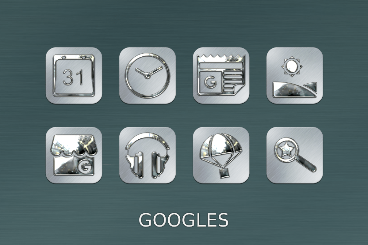Silver Chrome Icon Pack Screenshot 11