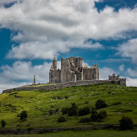 Rock of Cashel by Jim Hamel - Landscapes Travel ( clouds, hill, cashel, ireland, ruin, castle )