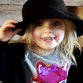Rolling the Tongue Silly Girl by Cheryl Korotky - Babies & Children Child Portraits