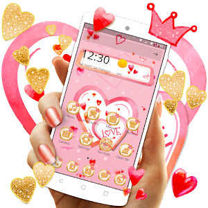Pink love romantic theme