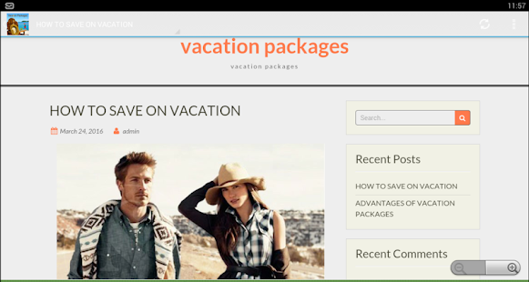 Vacation Packages - screenshot