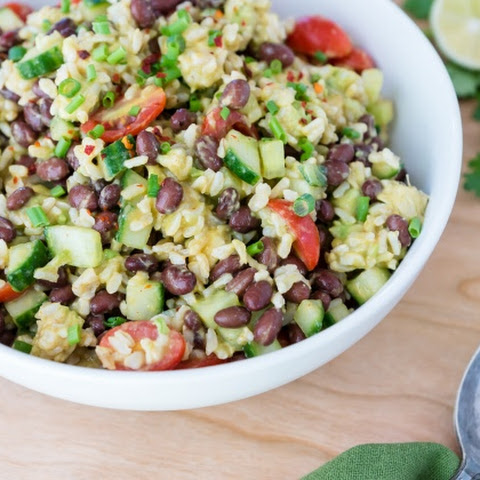 Chili-lime Black Bean & Rice Salad