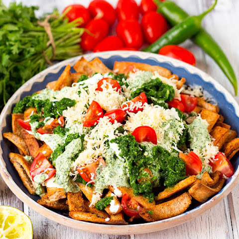 Healthy Nachos with Salsa Verde