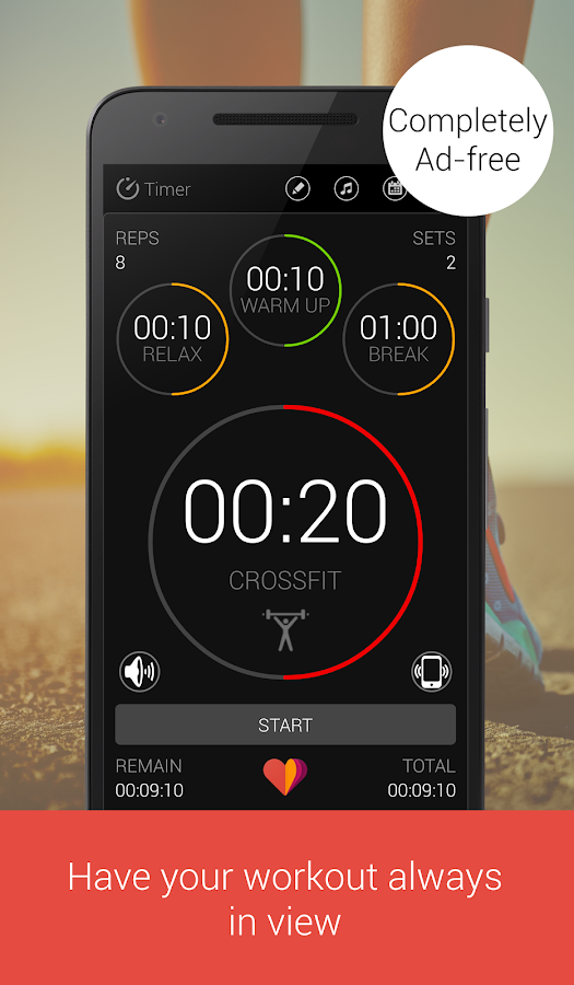 Tabata Workout Timer for HIIT Screenshot
