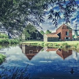 Zaance Schans by Zari Dobrichk-off - Landscapes Waterscapes ( waterscape, duch, holland, zaance )