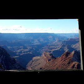 Desert View by Liz Behl - Landscapes Travel ( #grandcanyon #watchtower #window #southrim #nature )