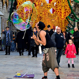 Street Entertainer by Francis Xavier Camilleri - People Musicians & Entertainers