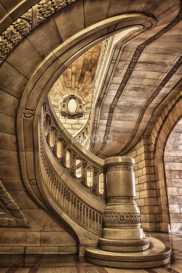 Perspective by Mark Miller - Landscapes Travel ( marble, stairs, stairway, hdr, architecture )