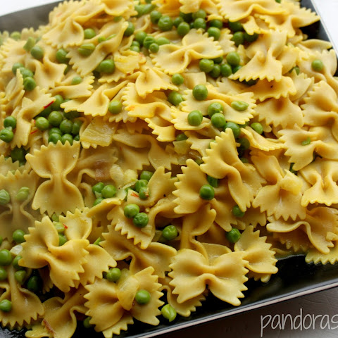 Saffron Pasta With Peas