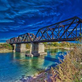 Railroad Bridge by Allen Skinner - Buildings & Architecture Bridges & Suspended Structures