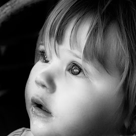 Little miss Sophia by Rob Crutcher  - Babies & Children Toddlers ( child, black and white, candid, toddler, emotion )