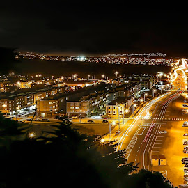 An enchanted evening ...... the Great Highway at Ocean Beach by Tin Tin Abad - City,  Street & Park  Historic Districts