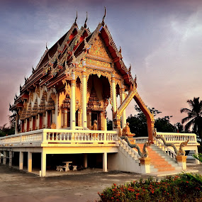 Ban Suan Mon Temple.Thailand. by Ian Gledhill - Buildings & Architecture Statues & Monuments ( temple, building, place of worship, buddhist, thailand, asia, architecture, , Architecture, Building, Buildings, Exterior, Exteriors, Interior, Interiors, Space, Spaces, HDR, Landmark, Landmarks, Engineering, Tilt Shift, Tiltshift, World, Beauty, Beautiful, Representing, Special, hdr, shapes geometric patterns , #Gautam buddha  )