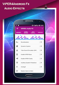 ViPER4Android Fx 2017 - Sound Equalizer APK screenshot thumbnail 2