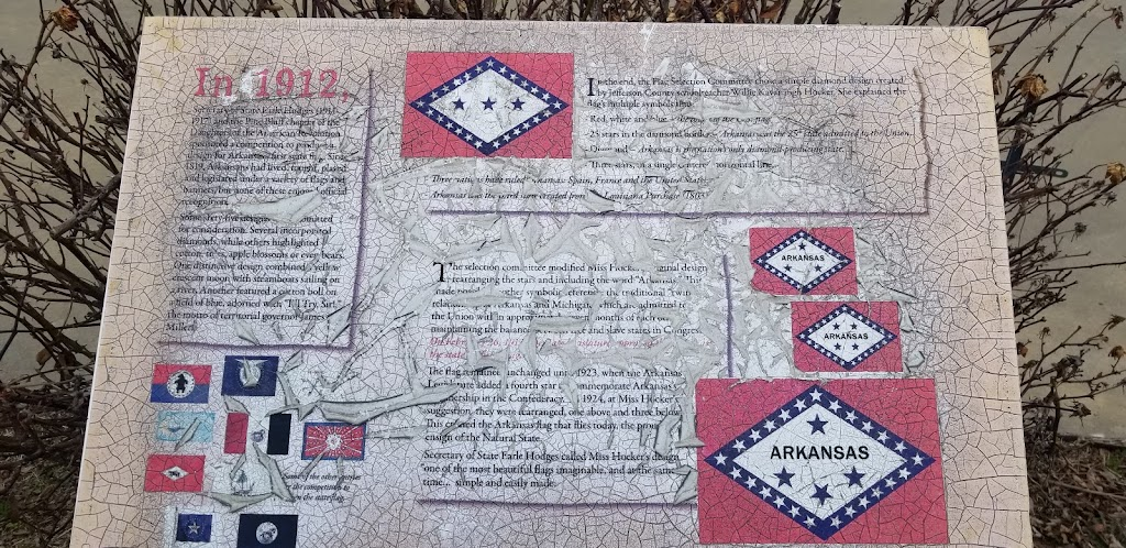In 1912, Secretary of State Earle Hodges (1911-1917) and the Pine Bluff chapter of the Daughters of the American Revolution sponsored a competition to produce a design for Arkansas's first state ...