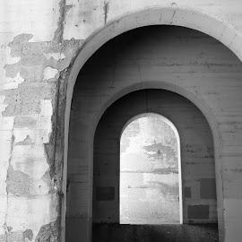 Arch Under 3rd St Bridge, Minneapolis, MN USA by Jo Brockberg - Buildings & Architecture Architectural Detail ( urban, old, minnesota, arch, minneapolis, under, paint, bridge, architecture, main street, light, concrete, shadows, city )