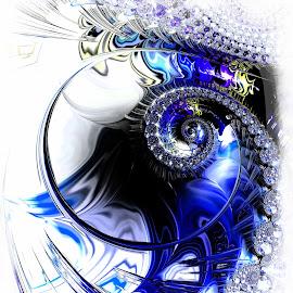 Bubble Spiral by Amanda Moore - Illustration Abstract & Patterns ( spirals, digital art, fractal art, spiral, fractal, digital, fractals )