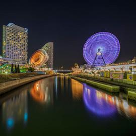 Minato Mirai by Nyoman Sundra - City,  Street & Park  Amusement Parks ( night, sakuragicho, minato mirai, yokohama )
