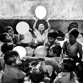Enlightened by Argha Chowdhury - Babies & Children Children Candids ( playful, school, children, india, childhood )