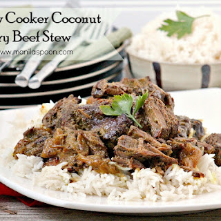 Slow Cooker Coconut Curry Beef Stew