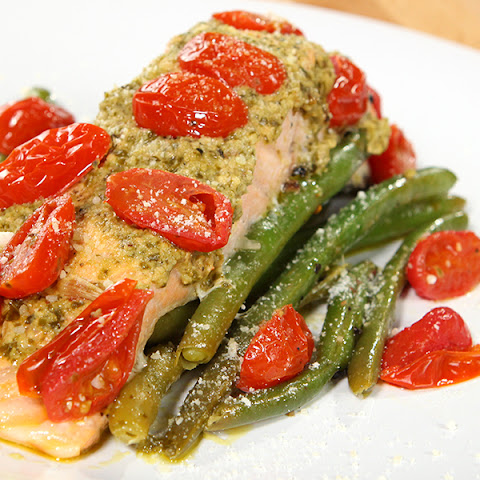 Baked Pesto Salmon