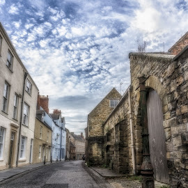 Durham St by Adam Lang - City,  Street & Park  Street Scenes ( durham, england, sky, street, road, wall, northern england, alley )