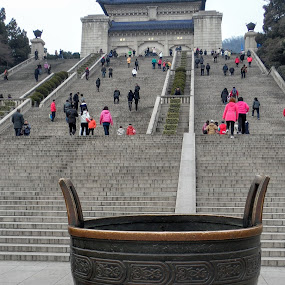 Dr Sun Yat Sen Mausoleum Historical Area by Wan Loy Yeong - City,  Street & Park  Historic Districts ( historical district, jiangsu sheng, historical area, mausoleum, dr sun yat sen, historical, city park, nanjing shi, chinese, historical monument, china,  )