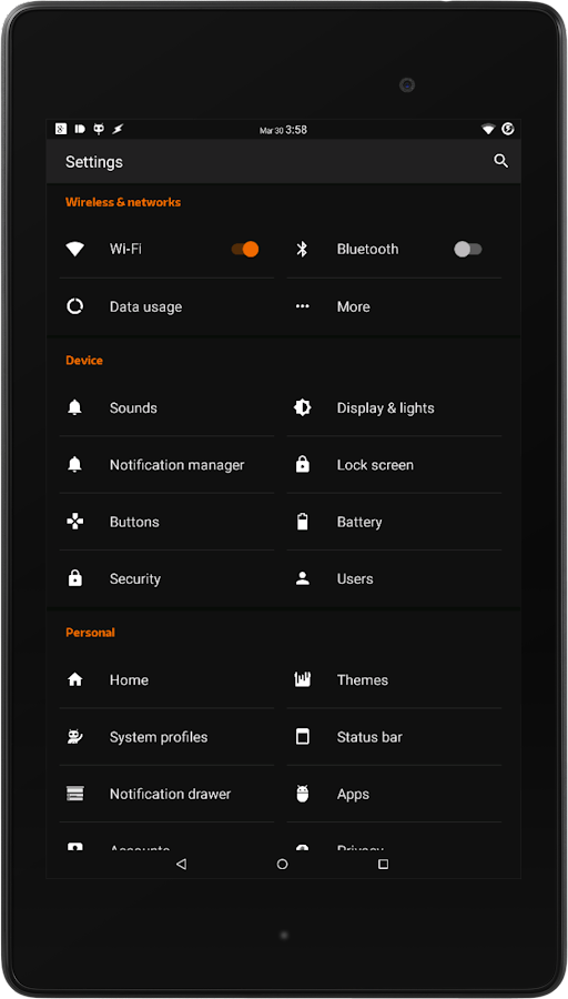Black MTRL - Dark Orange CM13 Screenshot 8