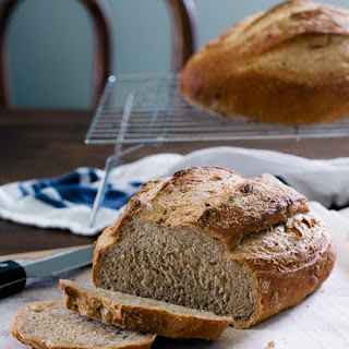 Multi-Grain Artisan Bread {No Knead}