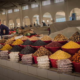 Bazaar in Bukhara, Republic of Uzbekistan by Sergey Sibirtsev - Food & Drink Ingredients ( bukhara, market, food, uzbekistan, bazaar, sale )